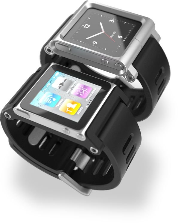 An iPod Nano watch.
