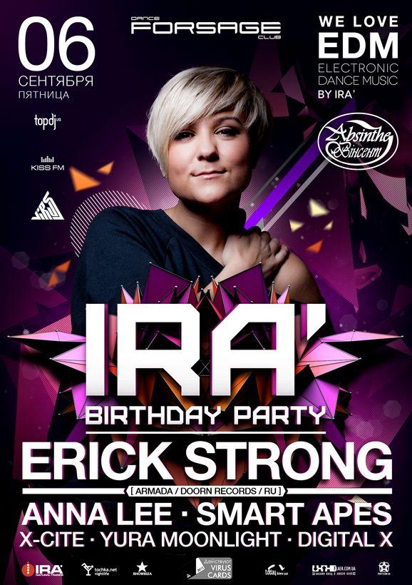 DJ IRA' birthday party poster design