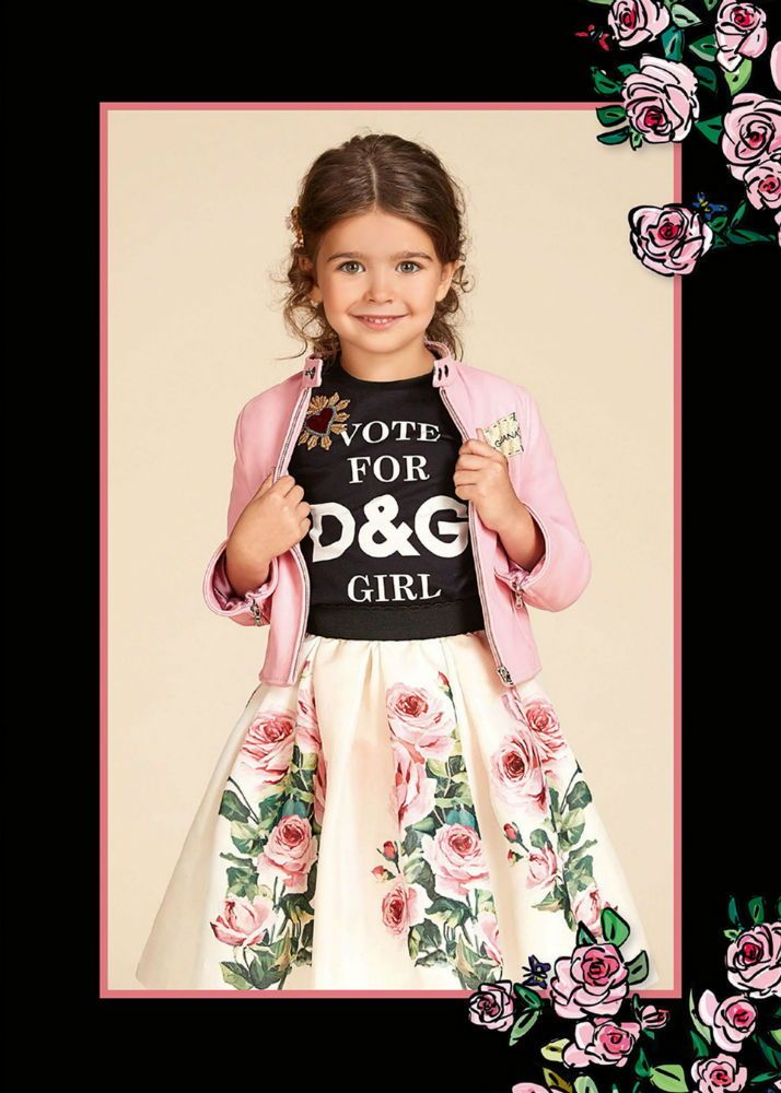 622ed89d96eb DOLCE & GABBANA Girls Designer Mini Me Black Logo T-Shirt & Rose Tulle  Skirt with Pink Jacket from the Spring Summer 2018 Collection. Love this  perfect ...