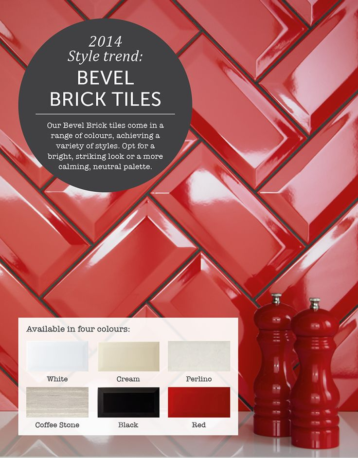 2014 Tile Trend Metro Tiles Like Our Gorgeous Bevel Brick Range Are Versatile