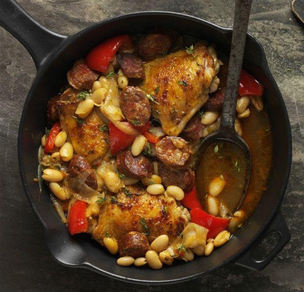 Španělské kuře s fazolemi z jedné pánve Foto: isifa.com