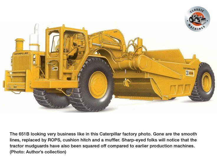 Classic Machines The Caterpillar 651 scraper in 2020