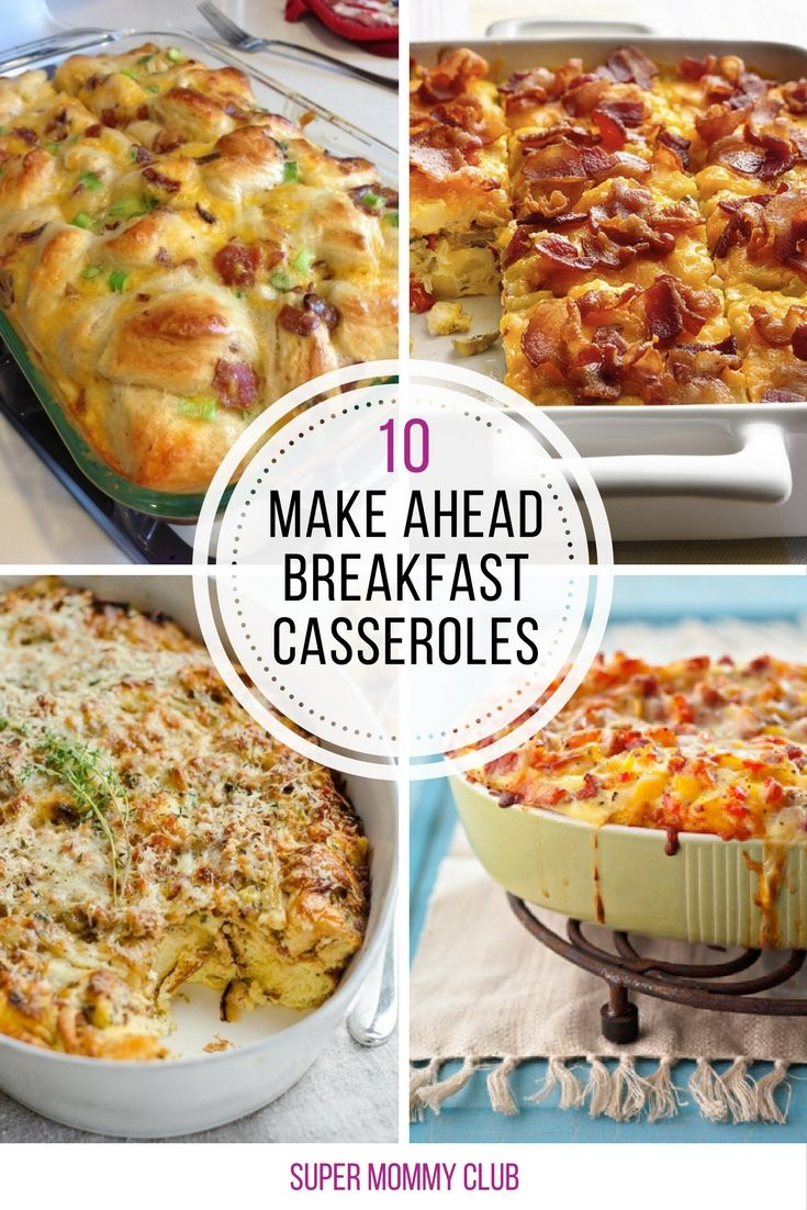 Loving these make ahead breakfast casseroles because they're perfect for a crowd!