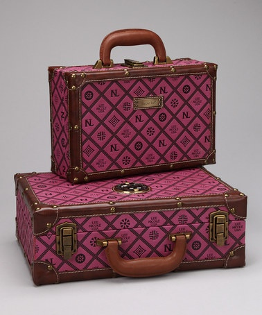 Take a look at this Eggplant Nicole Lee Initials Suitcase Set by Nicole Lee Handbags on @zulily today!