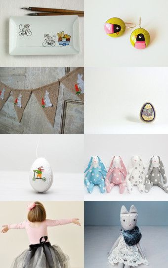 Easter theme by Kotryna Žvirblė on Etsy--Pinned with TreasuryPin.com