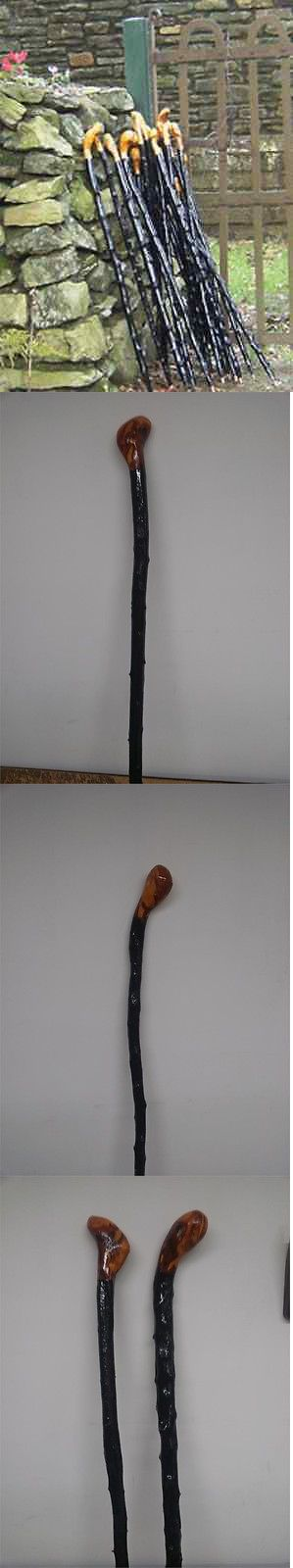 Walking and Trekking Sticks 23809: Irish Blackthorn Walking Stick - Hand Carved Genuine Wood From Ireland BUY IT NOW ONLY: $69.95