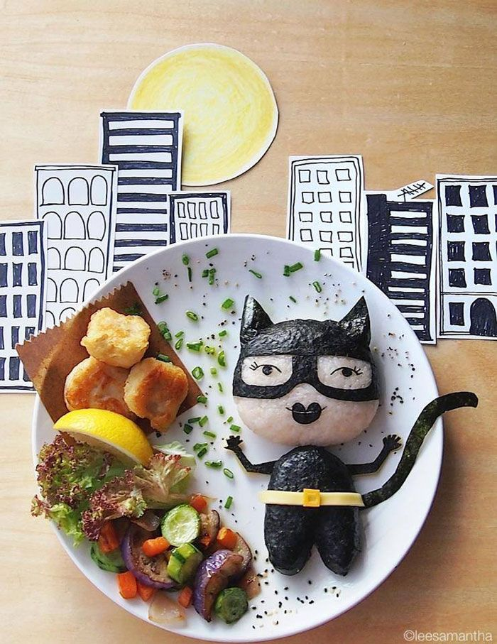 Catwoman food art by lee samantha (14)
