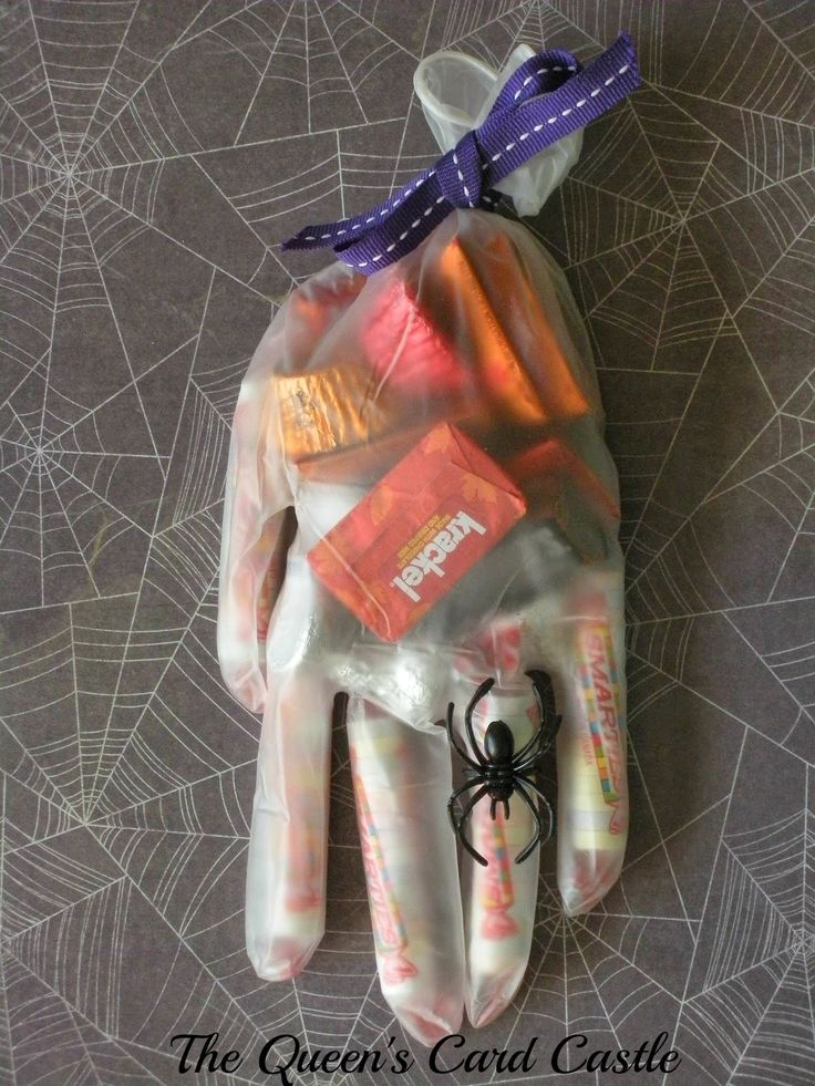 The Queen's Card Castle: Halloween Hand Treats