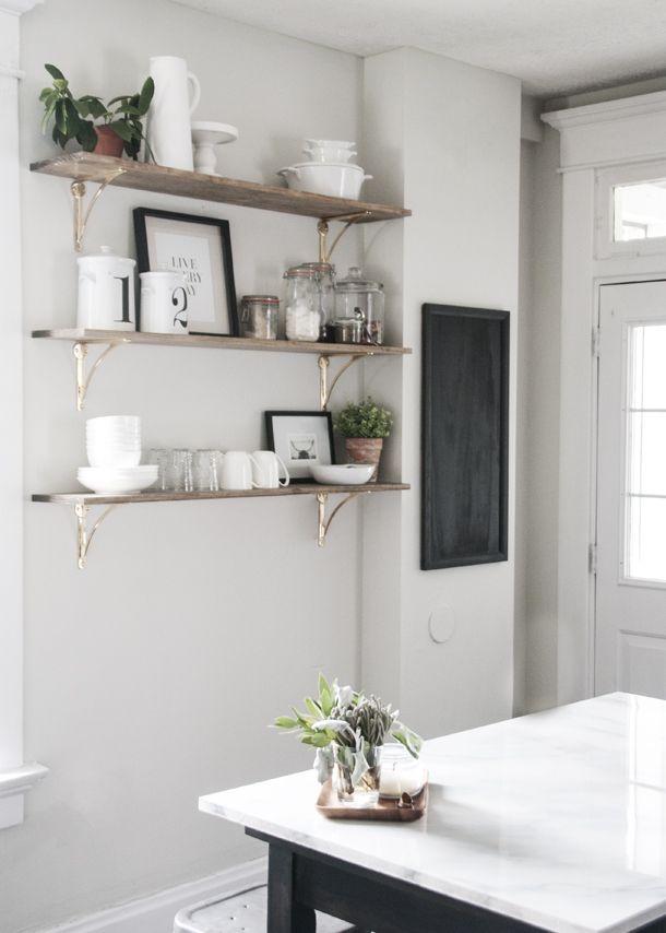 kitchen open shelving project earnest home co