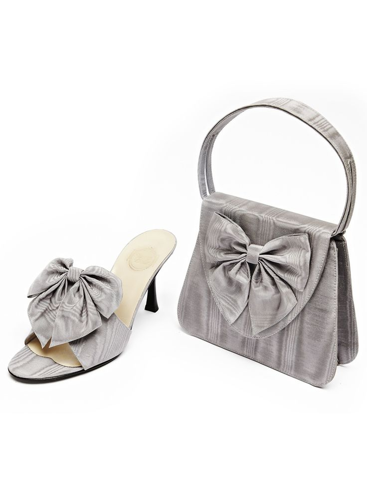 """L'Insolente"" in pearl grey moiré with shoe style ""Orage"". For tempestuous beauties ..."