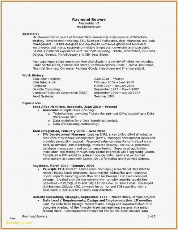 Cv Examples For Job In Uk In 2020 Project Manager Resume Cv Format For Job Resume Template