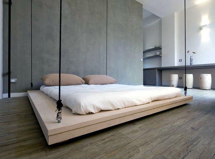 Die besten 25+ Schwebendes bett Ideen auf Pinterest Hochbett - kingsize bett im schlafzimmer vergleich zum doppelbett