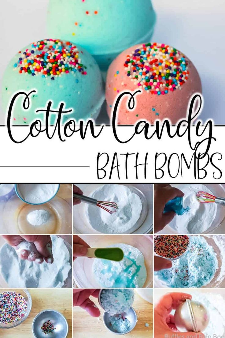 Make Easy Cotton Candy Bath Bombs for a Fun Bath Time
