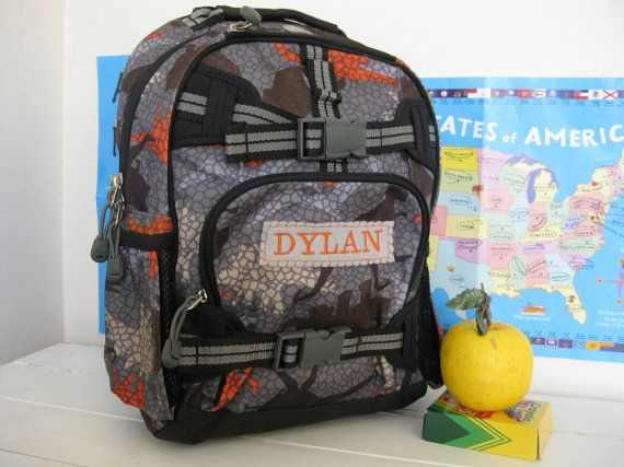 Personalized Kids Backpack Pottery Barn Small by BenLovesBirdy, $32.00