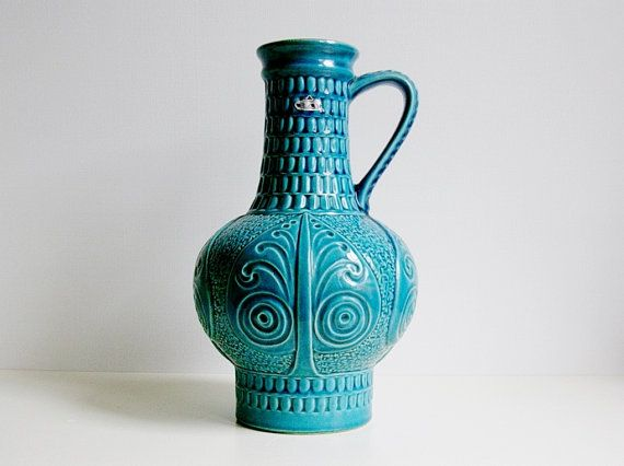Mid Century Bay keramik ceramic handled vase / by vintage2remember, €65.00