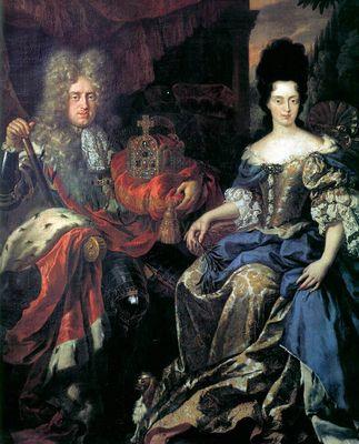 Elettore Palatino Johann Wilhelm von Pfalz-Neuburg e Anna Maria Luisa de' Medici - Jan Frans Van Douven -1708