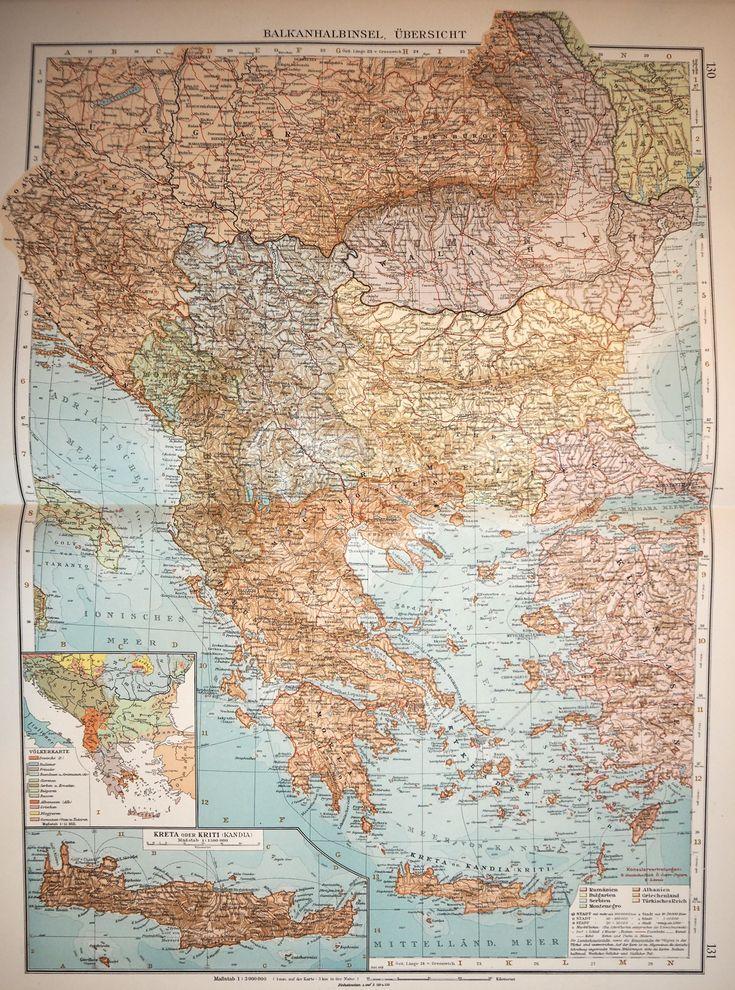 Andrees Handatlas 1914 Southeastern Europe Austria Hungary still