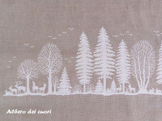 Albero dei cuori: Un bosco... ricamato