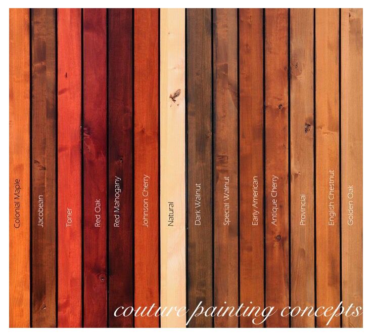 Minwax wood stain colors!