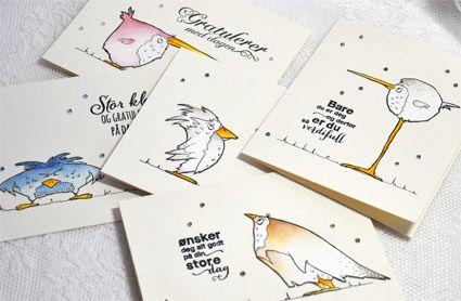 Kort & Godt Galleri: Gratulasjonskort med de morsomme fuglene våre