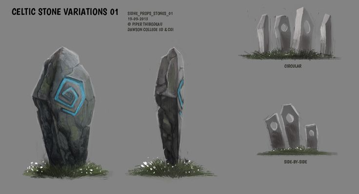 DAY 304. Sidhe - Props - Celtic Stones by Cryptid-Creations