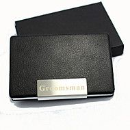 Personalized+Business+Card+Holder+With+Red+Leathe...+–+DKK+kr.+30