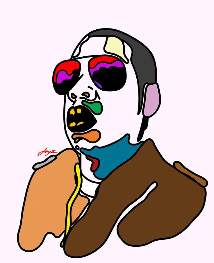 'Rap Face' Jay Z by Magnus Voll Mathiassen — Agent Pekka
