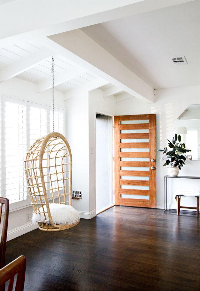 entry, hanging chair // smitten studio