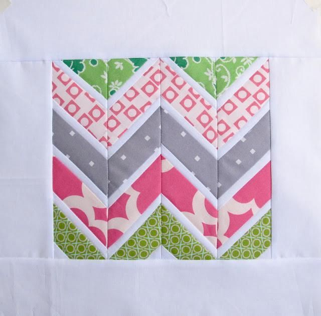 Sharp Chevrons Templates by Anna - Six White Horses | Quilting Pattern