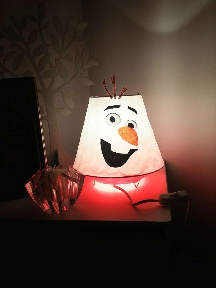 Lampe de chevet enfant bébé thème olaf reine des neiges