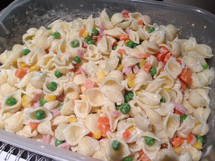 Comfort food recipe cold shell pasta salad seasons for Cold pasta salad ideas