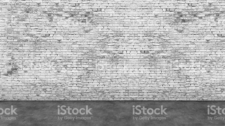 Long empty white brick wall and foreground royalty-free stock photo