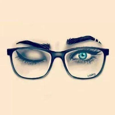 Hey it's me! Blue eyes and black nerdy glasses!(: