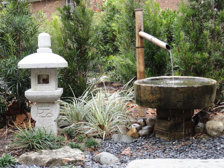 Oribe shiki lantern this lantern is common in japanese - Japanese garden water basin ...