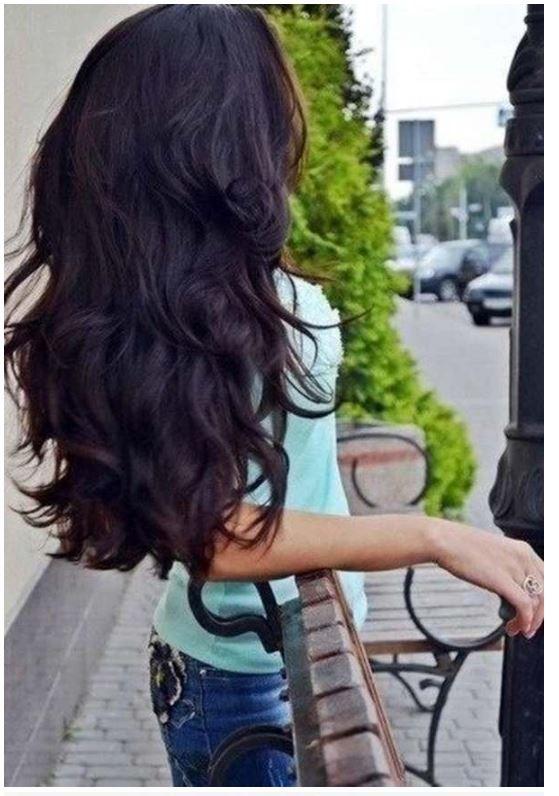 Çok uzun saçlara viyole siyahı saç rengi tavsiyeleri