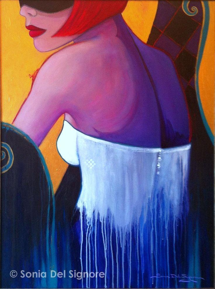 """Enigmatica by Sonia Del Signore 40"""" x 30"""" acrylics"""