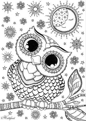 De 25+ bedste idéer inden for Owl coloring pages på