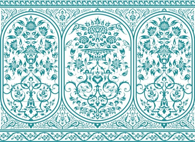 Turquoise Porcelain Wall Lining available for all our LPM Bohemia structures excluding Yurts and Party Tents