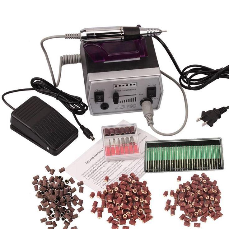 New Professional Electric Nail File Manicure Tool Pedicure Machine Set kit C-10