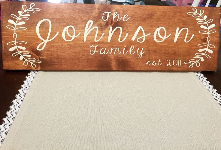 Custom last name sign at PeaPieSigns
