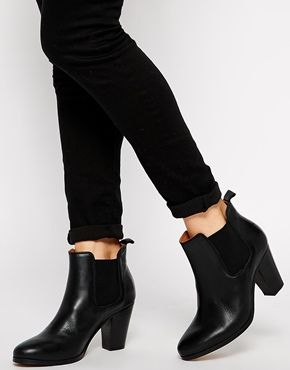 Jack+Wills+Black+Heeled+Chelsea+Boots