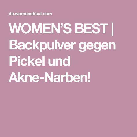 Backpulver gegen Pickel und Akne-Narben!
