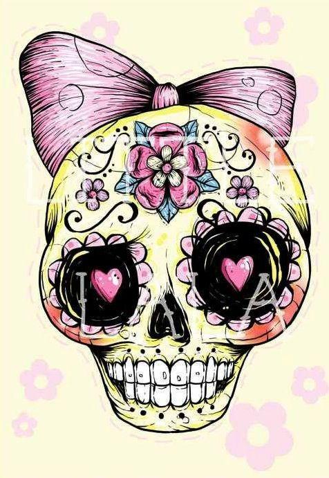 31 awesome girly skull - photo #3