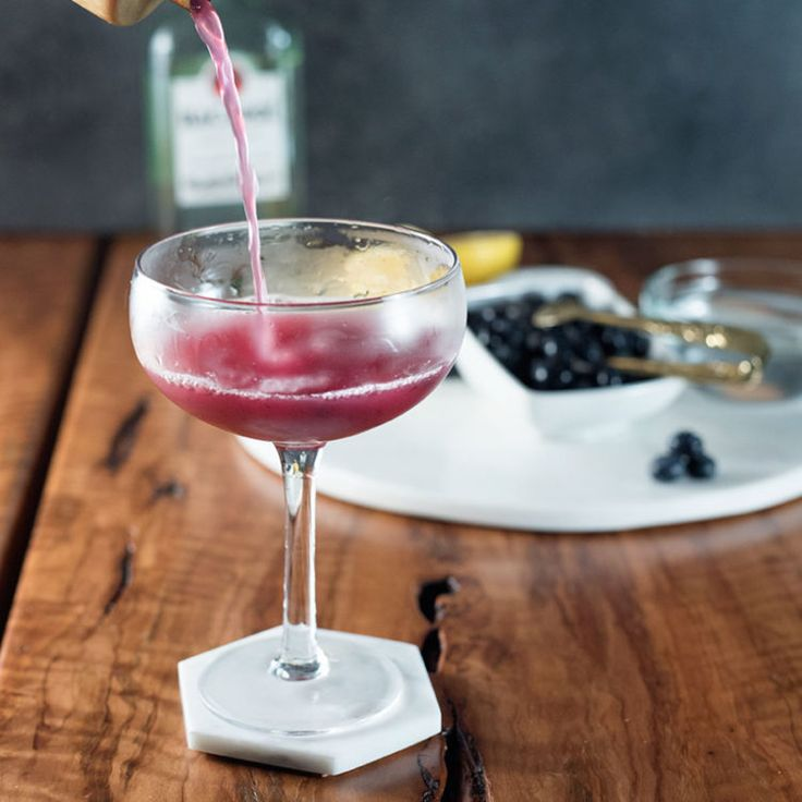 As tasty as the name is adorable, this blueberry honey bee cocktail combines the sticky sweet flavor of honey with the freshness of blueberries for a drink that hits the spot this holiday season.