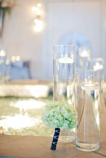 Tealight layers, low, mid & tall. Belvedere Wedding by Kristin La Voie Photography | Photos