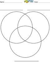 Venn Diagrams - Printables, Blank Venn Diagrams, Venn Diagram Templates, Venn Diagram Worksheets