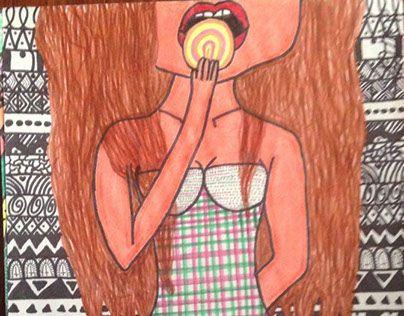 "Check out new work on my @Behance portfolio: ""La linda chica del dulce en la boca."" http://be.net/gallery/33652790/La-linda-chica-del-dulce-en-la-boca"