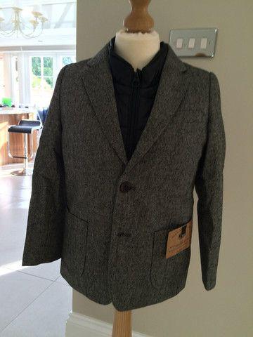 Scotch Shrunk Herringbone Jacket with Puffer Inner
