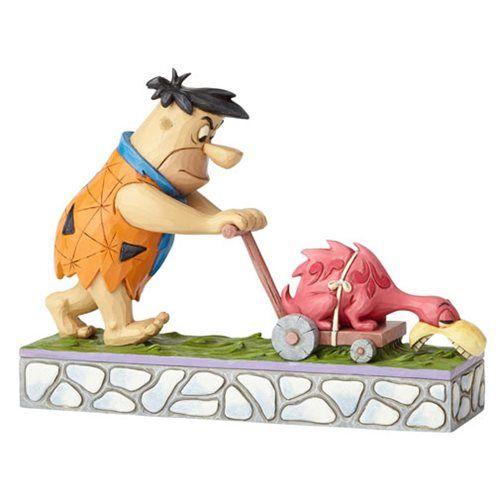 Flintstones Hanna Barbera by Jim Shore Fred Mowing Statue - Enesco - Flintstones - Statues at Entertainment Earth