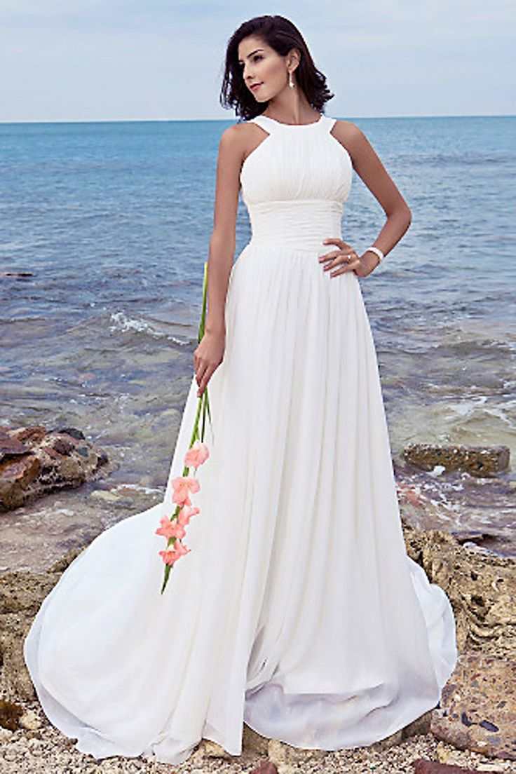20 best gorgeous wedding dresses images on pinterest gorgeous white beach wedding dresses halter bridal gown for summer wedding dress ombrellifo Image collections
